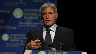"Harrison Ford lors du ""Governors' Global Climate Summit 3"" en novembre 2010."