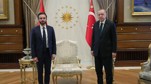Robert Spano (left), the head of the European Court of Human Rights, has come under fire for his visit to Istanbul