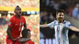 Arturo Vidal et Lionel Messi, deux des clés de cette finale de Copa America 2016.