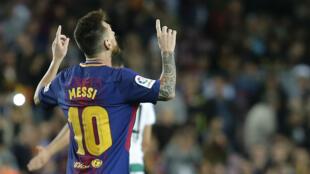 Lionel Messi, plus fringant que jamais avec le Barça.