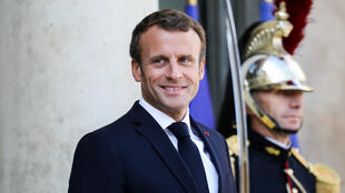 Emmanuel Macron, le 5 septembre 2019, sur le perron de l'Élysée.