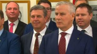 Michael McCormack en el momento en que asumen como nuevo vicre primer ministro de Australia