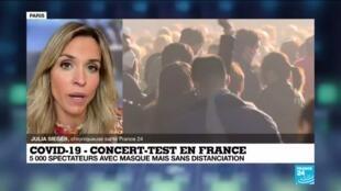 un premier grand concert-test en France avec le groupe Indochine