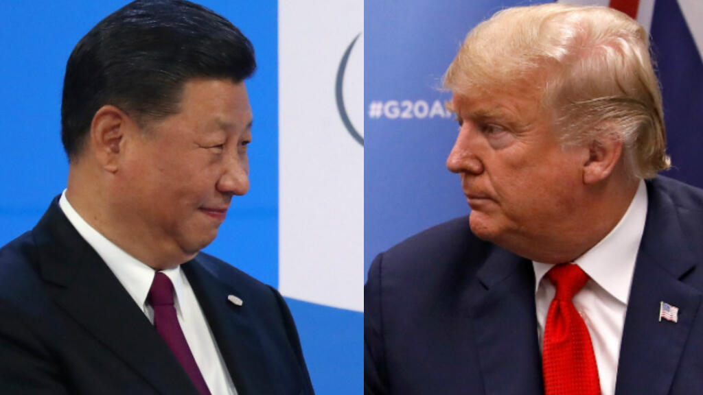 El presidente de China, Xi Jinping (izquierda) y el presidente de Estados Unidos, Donald Trump (derecha).