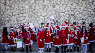 La parade de Noël à Nazareth, en 2016.