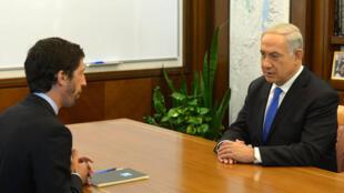 Benjamin Netanyahou interviewé par le correspondant de FRANCE 24