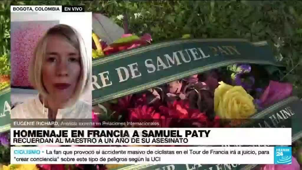 """2021-10-15 19:05 Eugenie Richard: A un año del asesinato de Samuel Paty """"persiste el miedo entre los profesores"""""""