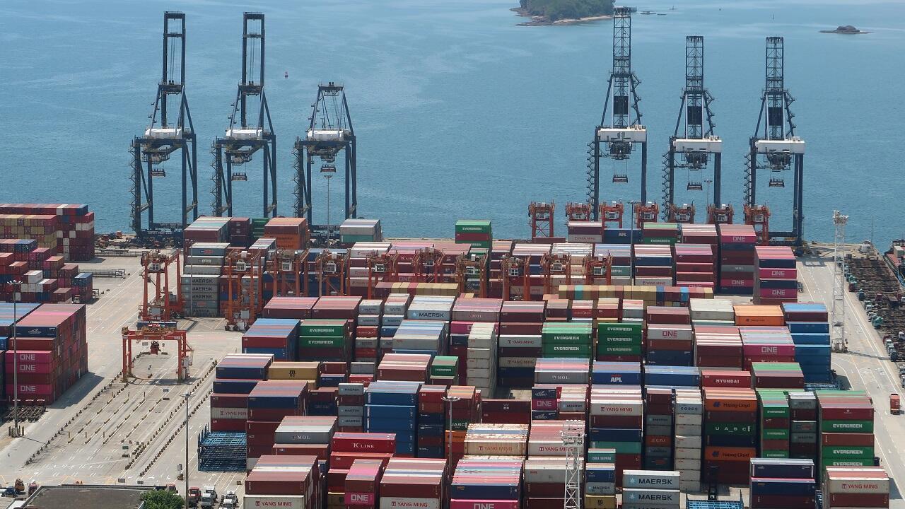 Imagen del puerto de Yantian en Shenzhen, provincia de Guangdong, China, tomada el 17 de mayo de 2020.