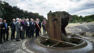 Le roi des Belges, Philippe, participe à une cérémonie de commémoration de la Grande Guerre, le 4 août au fort de Loncin, près de Liège