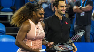Swiss ATP star Roger Federer, right, and US WTA star Serena Willams could be part of the same tennis circuit under a merger plan supported by WTA chief execuitve Steve Simon