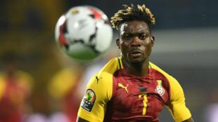 Le milieu de terrain Christian Atsu lors du match entre le Ghana et le Bénin mardi 25 juin 2019