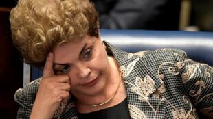 Dilma Rousseff, devant le Sénat, le 29 août 2016.
