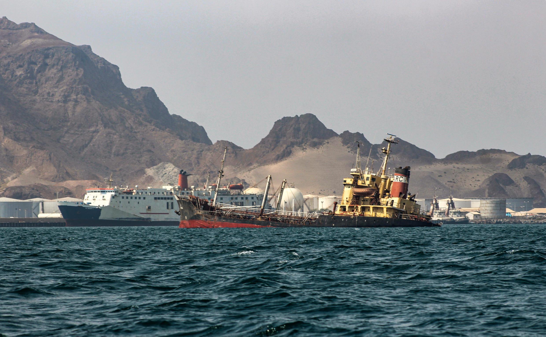 ناقلة نفط يمنية قبالة سواحل ميناء عدن،  26 سبتمبر/  أيلول2019