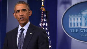 Le président américain Barack Obama, dimanche 12 juin 2016, lors de son allocution à la Maison Blanche après la tuerie d'Orlando.
