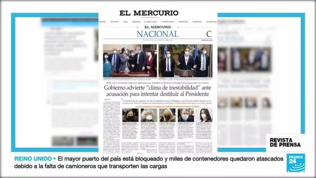 """El Mercurio destaca la advertencia de Piñera sobre la """"inestabilidad"""" que conllevaría su destitución."""