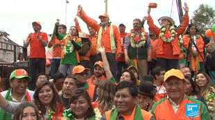 El candidato Carlos Mesa es la competencia más cercana que tiene el presidente Evo Morales según las últimas encuestas.