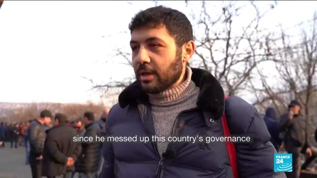 2021-02-26 08:35 Armenia opposition supporters rally in Yerevan, demand Pashinyan's resignation