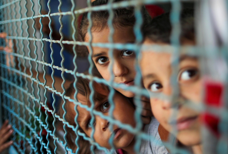 gaza displaced children