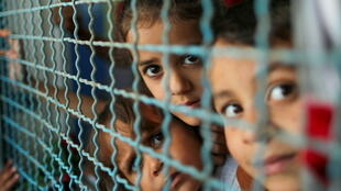 gaza displaced children