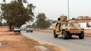 قوات موالية لحكومة الوفاق الوطني الليبية جنوب طرابلس. 6 أبريل/نيسان 2019.
