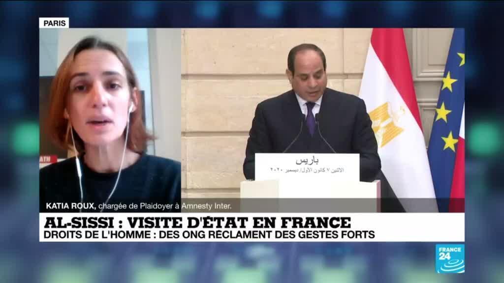 """2020-12-07 17:34 Visite d'al-Sissi à Paris : En Egypte, """"la répression atteint des niveaux inédits"""""""