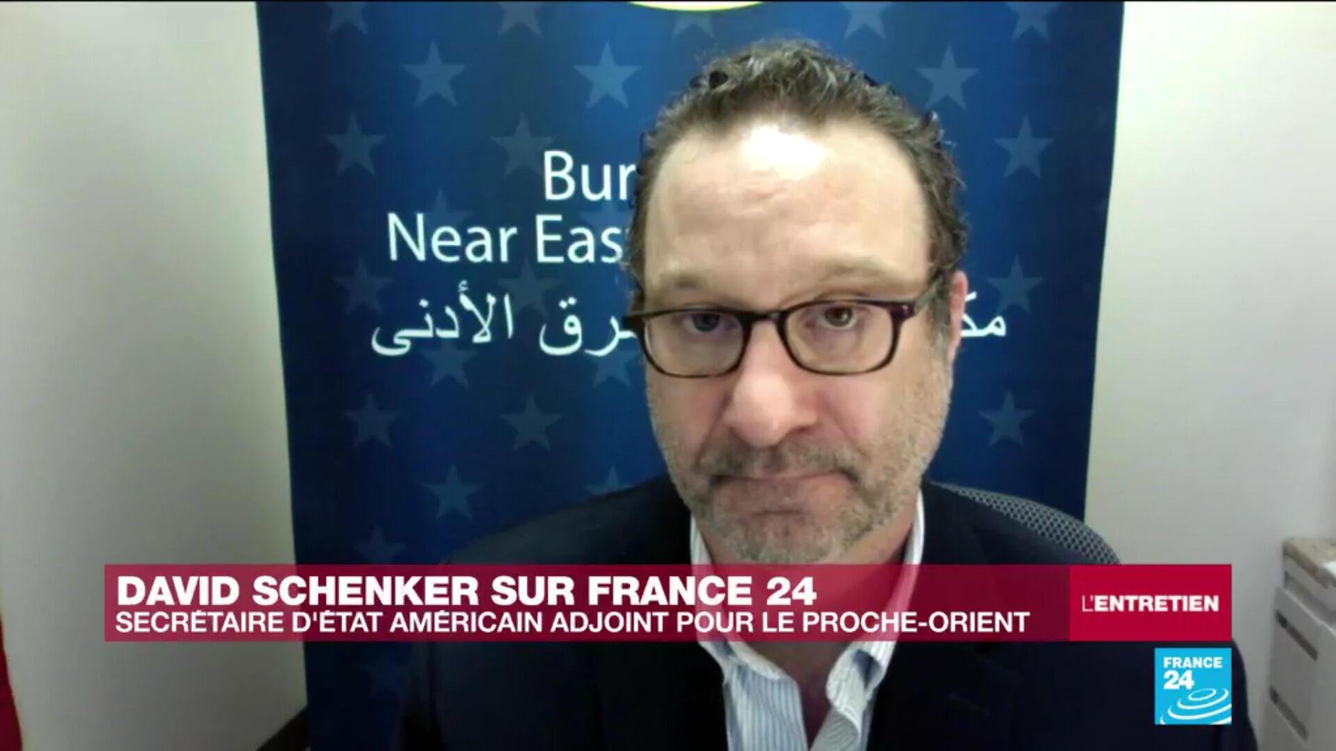 David Schenker, secrétaire d'Etat américain adjoint pour le Proche-Orient, le 27 mai 2020.