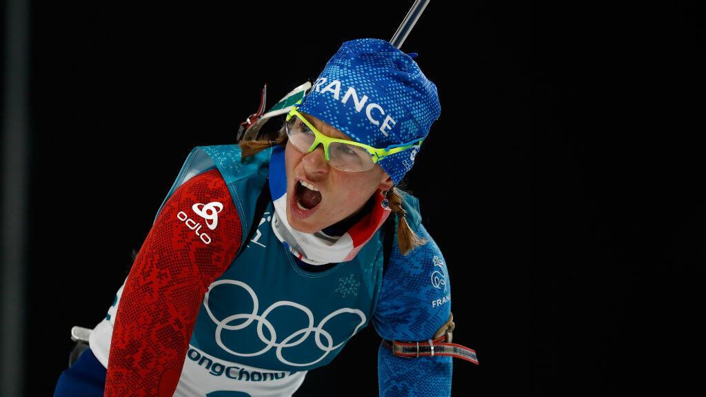 Anaïs Bescond, médaillée de bronze sur la poursuite féminine en biathlon.