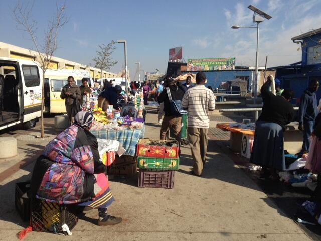 Le marché de Bara à Soweto.