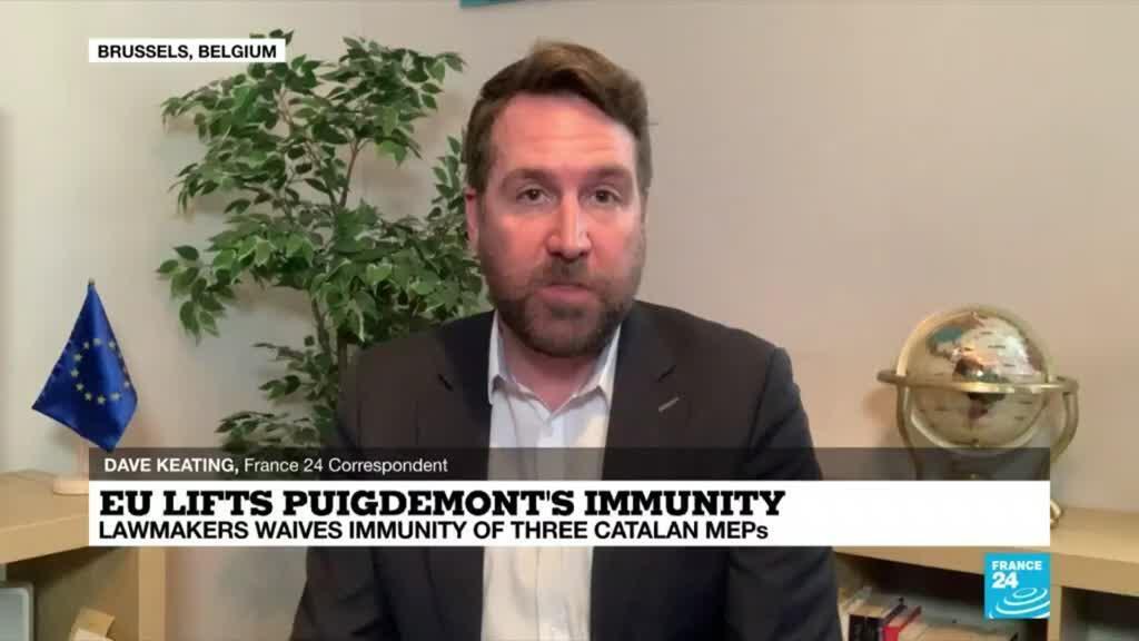 2021-03-09 18:03 EU lifts Puigdemont immunity: Ex-Catalan leader decries 'sad day' for democracy