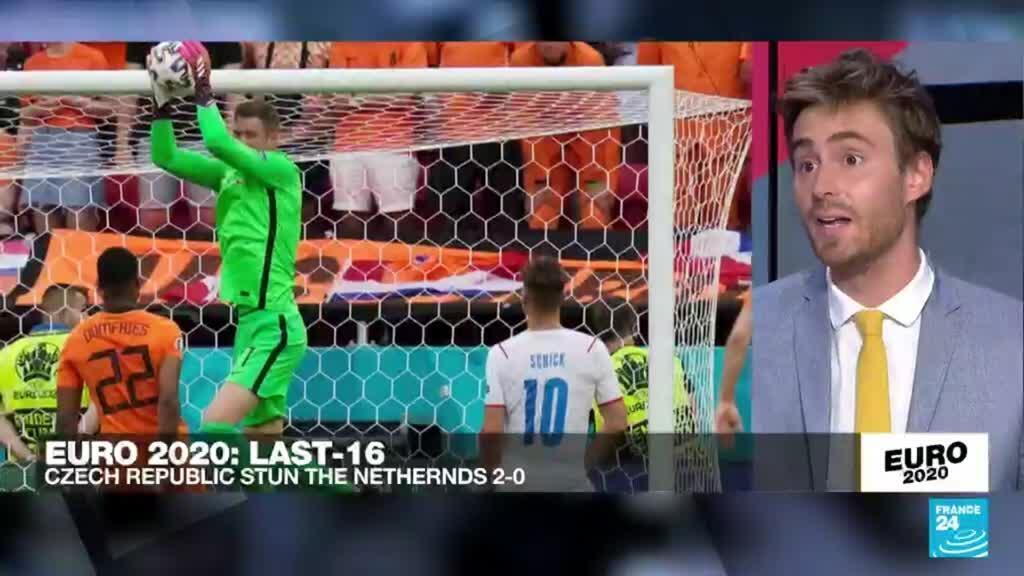 2021-06-27 23:50 Czechs upset 10-man Netherlands to reach Euro 2021 quarter-finals