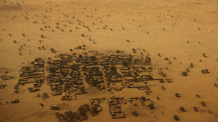 An aerial view shows houses outside the town of Diffa, March 21, 2015.