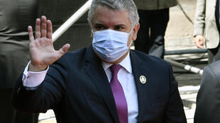 Colombian President Ivan Duque, pictured on November 8, 2020, criticized what he said were scarce international resources to deal with the exodus of migrants from Venezuela