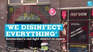 The red-light district in Amsterdam, the Netherlands, on Wednesday, July 1, 2020.