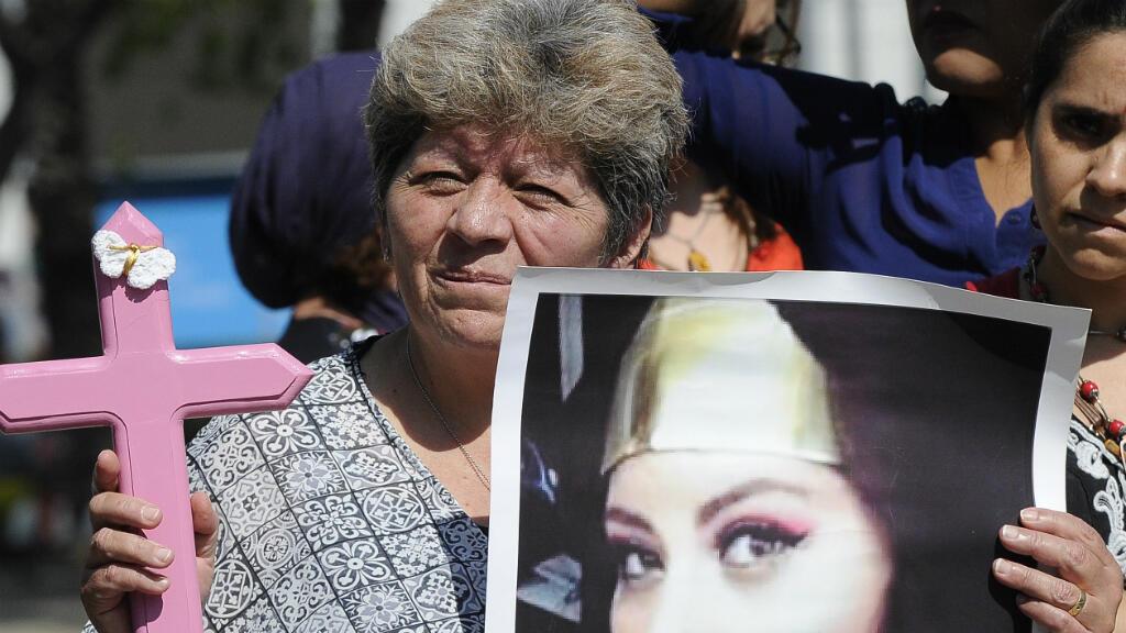 Imagen de archivo. Silvia Vargas, madre de María Fernanda Rico, víctima de violencia de género asesinada, participa el 19 de octubre de 2016 en la Ciudad de México en una marcha contra la violencia de género. El 19 de octubre de 2016.