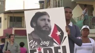 من مراسم تشيع جنازة الرئيس الكوبي الراحل فيدل كاسترو