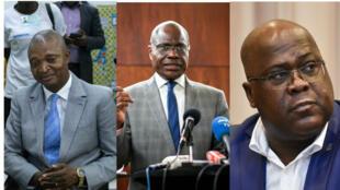 De gauche à droite, Emmanuel Ramazani Shadary, Martin Fayulu, Félix Tshisekedi