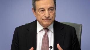 رئيس البنك المركزي الأوروبي ماريو دراغي في 25 تموز/يوليو 2019
