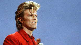 David Bowie le 14 juin 1987 lors d'un concert à Hambourg.