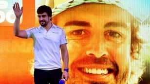 Fernando Alonso, shown at his F1 farewell party, takes aim at the Indianapolis 500 after winning the 24 Hours of Daytona