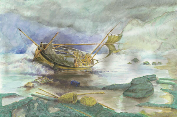 Le bateau perdu en mer de Djamel Ameziane.