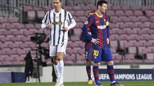 Football ligue des champions Messi Ronaldo