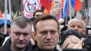 Navalny (C) is known for his anti-corruption campaigns against top officials and outspoken criticism of President Vladimir Putin