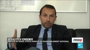 Sébastien Chenu, porte-parole du Rassemblement national