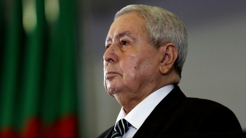 Abdelkader Bensalah, el presidente de la Cámara Alta de Argelia, tras ser designado como presidente interino por el Parlamento el 9 de abril de 2019.