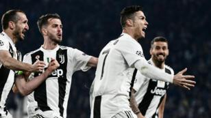 Cristiano Ronaldo, auteur d'un triplé avec la Juventus Turin, mardi 12 mars 2019.
