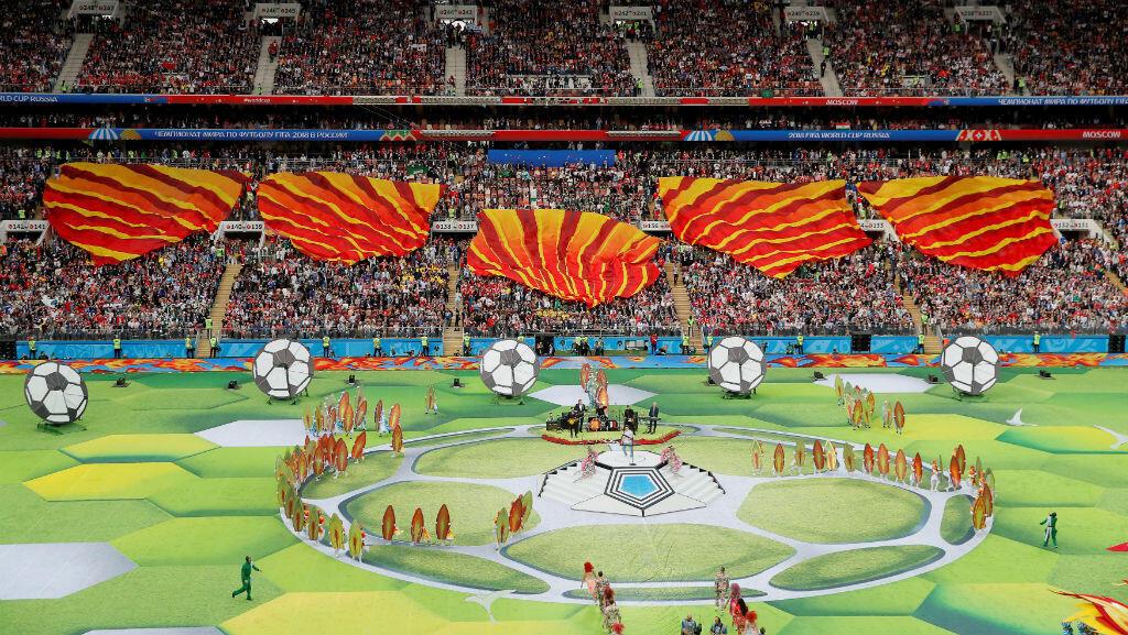 Ceremonia de inauguración del Mundial Rusia 2018 en el estadio Luzhnikí de la ciudad de Moscú. 14 de junio de 2018.