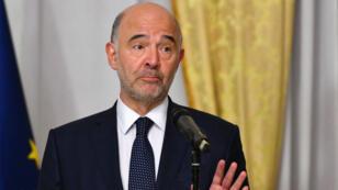 Le Commissaire européen aux affaires économiques Pierre Moscovici, à Rome, le 18 octobre 2018.