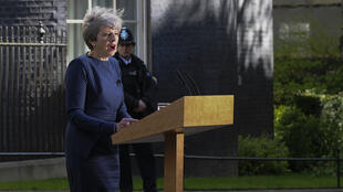 Theresa May, la Première ministre britannique annonçant la tenue d'élections législatives anticipées, mardi 18 avril 2017.