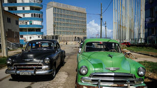 Picture of the US embassy in Havana, taken on October 3, 2017.