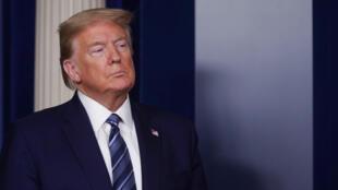 Le président américain Donald Trump à la Maison Blanche le 21 avril 2020.
